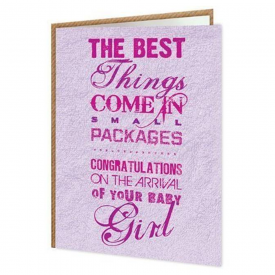 Small Packages Girl Card