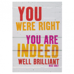 Well Brilliant Greetings Card
