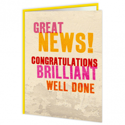Word Up, Great News Card