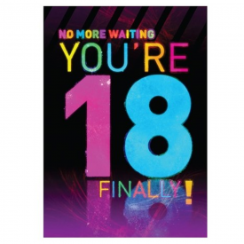 You're 18 Finally Disco Card