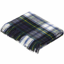 100% Lambswool Dress Gordon Tartan Throw