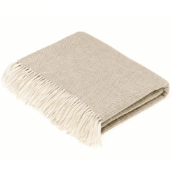100% Lambswool Parquet Beige Throw