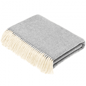 100% Lambswool Parquet Grey Throw