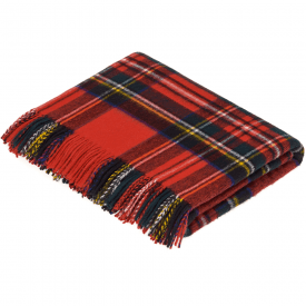 100% Lambswool Royal Stewart Tartan Throw