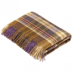 Country Collection Glen Coe Heather Throw