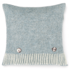 Duck Egg Herringbone Cushion