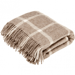 Natural Collection Windowpane Beige Throw