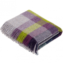 Pure New Wool Harley Stripe Blackcurrant Throw