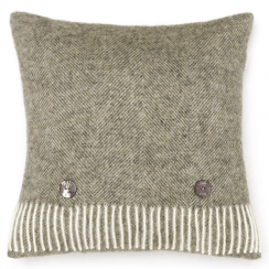 Vintage Grey Herringbone Cushion