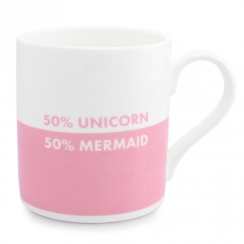 50% Unicorn 50% Mermaid Pink Mug