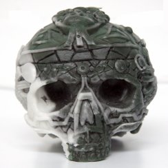 Celtic Green & Black Skull Candle