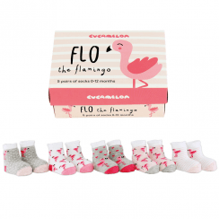 Baby Flo the Flamingo Socks Gift Set