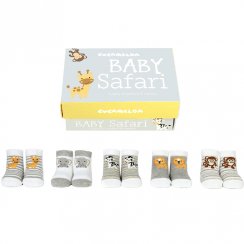 Baby Safari Sock Gift Set