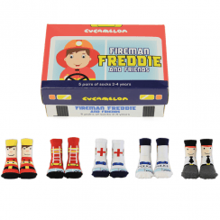 Fireman Freddie and Friends Socks Gift Set 2-4 Years