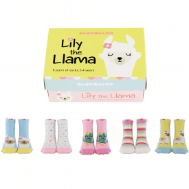 Lily the Llama Socks Gift Set 2-4 Years