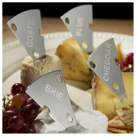 Handmade set of 4 Cheese Markers
