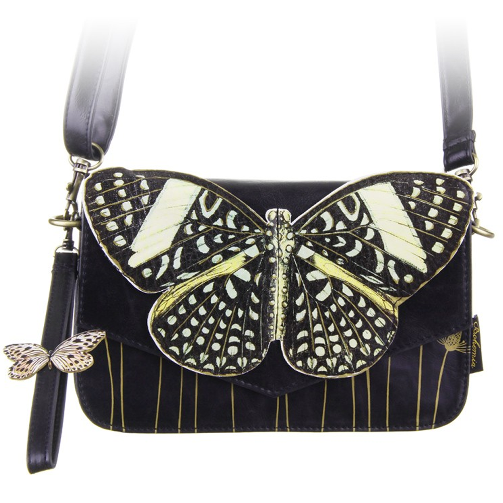 Bohemia Black Butterfly Clutch Bag At Flamingo Gifts Orla Disaster Designs
