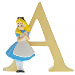 Alphabet Letter A Alice in Wonderland Figurine