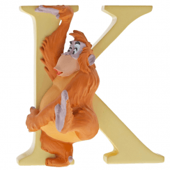 Alphabet Letter K King Louie Figurine