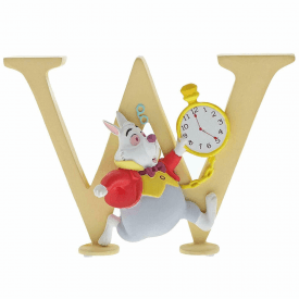 Alphabet Letter W White Rabbit Figurine