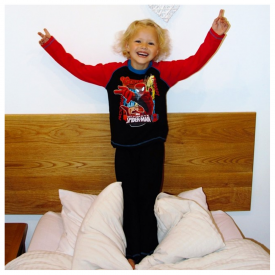 Spiderman Black Pyjamas 4 to 10 Years