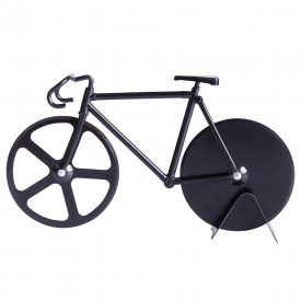 Fixie Bike Pizza Cutter Pure Black