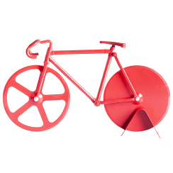 Fixie Bike Pizza Cutter Pure Red