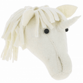 Baby Unicorn Felt Animal Wall Head