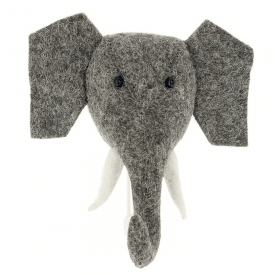Big Felt Elephant Head Coat Hook