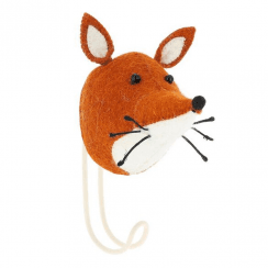 Big Felt Fox Head Coat Hook
