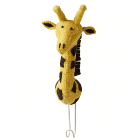 Big Felt Giraffe Head Coat Hook