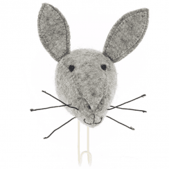 Big Felt Hare Head Coat Hook