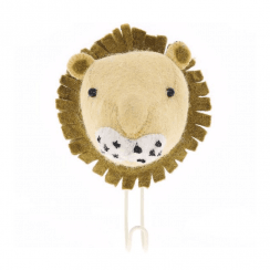 Big Felt Lion Head Coat Hook