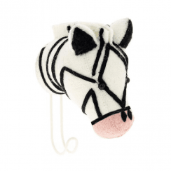Big Felt Pink Nose Zebra Head Coat Hook