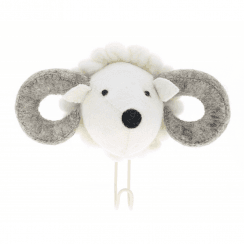 Big Felt Ram Head Coat Hook