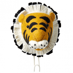 Big Felt Tiger Head Coat Hook