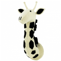 Black & White Safari Giraffe Felt Animal Head Wall Mounted