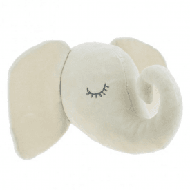 Cream Sleepy Elephant Mini Felt Animal Head