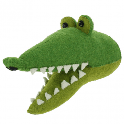 Crocodile Mini Felt Animal Wall Head