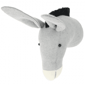 Donkey Felt Animal Head