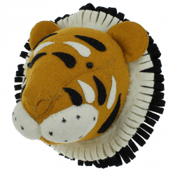 Double Ruff Tiger Felt Animal Head Large
