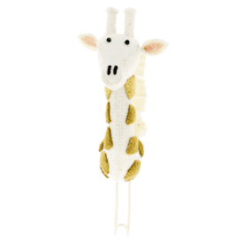 Felt Giraffe Head with Tonal Spots Coat Hook