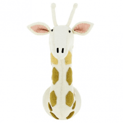 Felt Giraffe with Tonal Spots Animal Wall Mounted Head