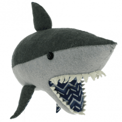 Felt Shark Head Wall Mounted