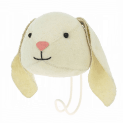 Floppy Ear Bunny Felt Animal Head Coat Hook