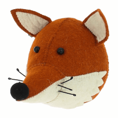 Fox with Ruff Mini Felt Animal Wall Head
