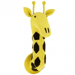 Giraffe Felt Animal Head Large, Wall Mounted