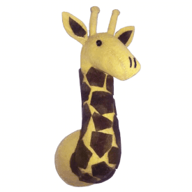 Giraffe Mini Felt Animal Head, Wall Mounted