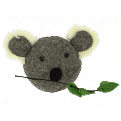 Koala Head Mini Felt Animal Head, Wall Mounted