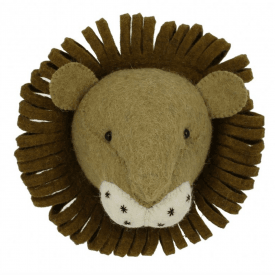 Lion Mini Felt Animal Head, Wall Mounted